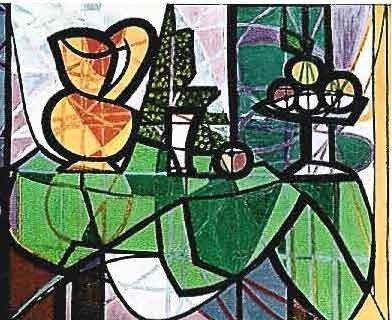 "700019: PICASSO ""PITCHER AND FRUIT ON TABLE"""