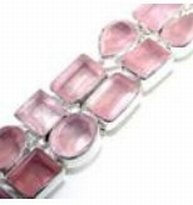 100202: Rose Quartz Sterling Bracelet