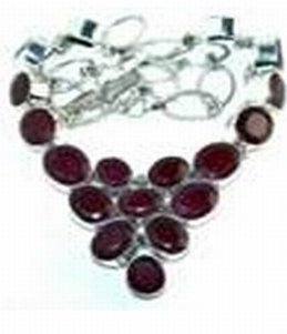 100372: Ruby Sterling Necklace