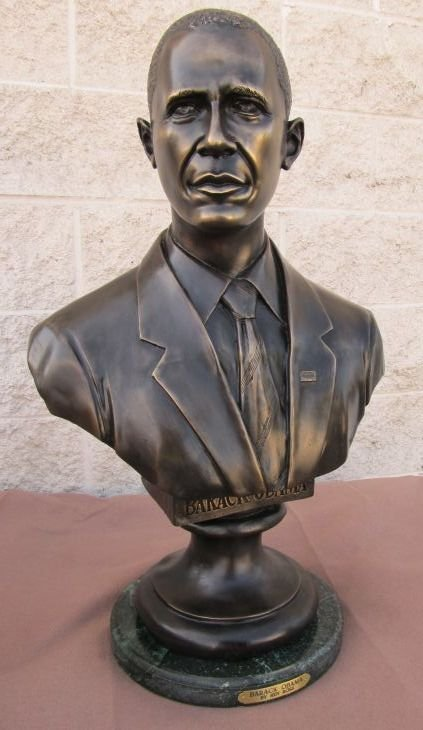 "300019: ""BARACK OBAMA"" BRONZE BUST"