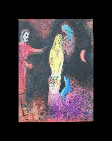 """100033: CHAGALL 1977 """"DAPHNIS AND CHLOE"""" LITHOGRAPH"""