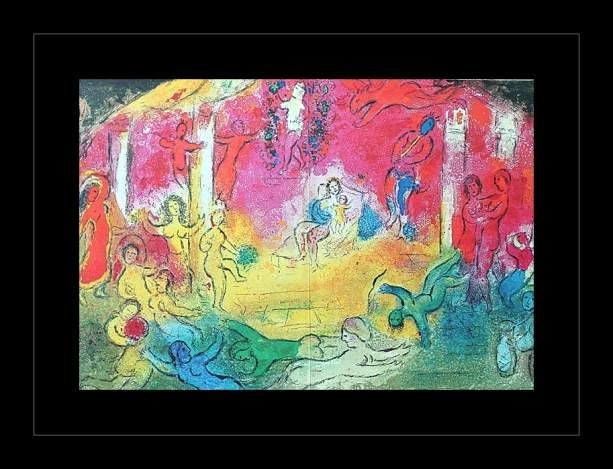 """200022: CHAGALL 1977 """"DAPHNIS AND CHLOE"""" LITHOGRAPH"""