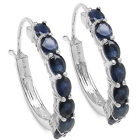 200042: BLUE SAPPHIRE STERLING EARRINGS