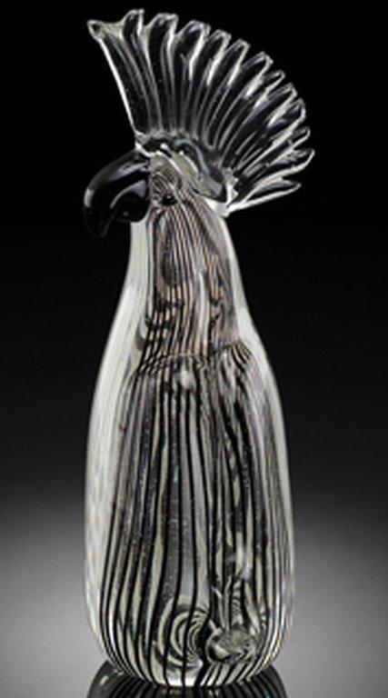 300001: ART GLASS PARROT
