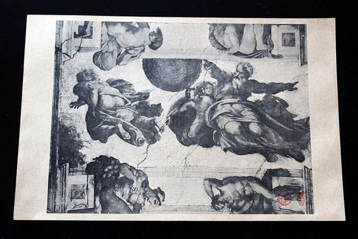 400002: ANTIQUE GALLERY STAMPED LITHOGRAPH