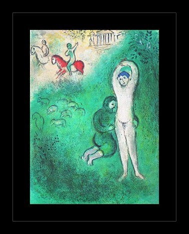 """400020: CHAGALL 1977 """"DAPHNIS AND CHLOE"""" LITHOGRAPH"""