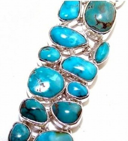400022: Turquoise Sterling Bracelet