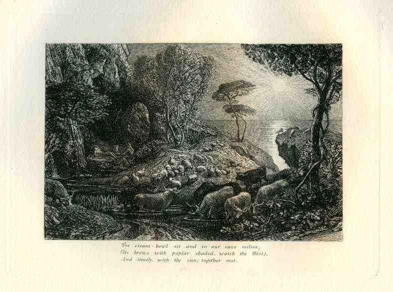 """400038: PALMER """"MOERIS AND GALATEA"""" ECLOGUE 9 ORIGINAL"""