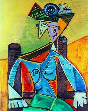 """500011: PICASSO """"SEATED WOMAN IN AN ARMCHAIR"""""""
