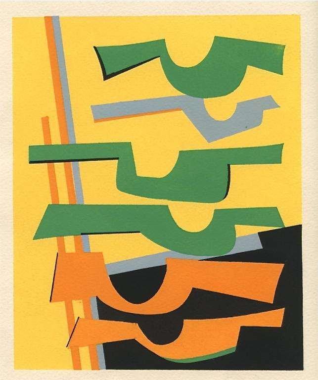 500025: ALBERTO MAGNELLI 1951 SILKSCREEN