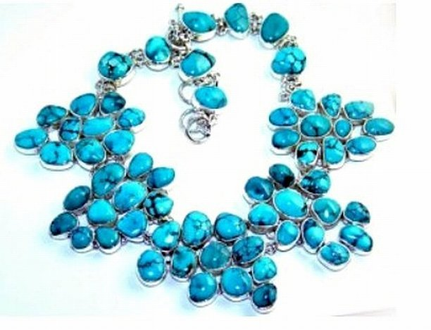 500033: Turquoise Sterling Necklace