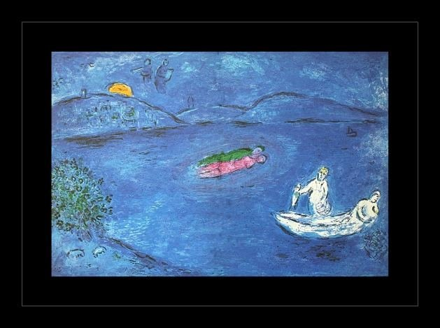 "600020: CHAGALL 1977 ""DAPHNIS AND CHLOE"" LITHOGRAPH"