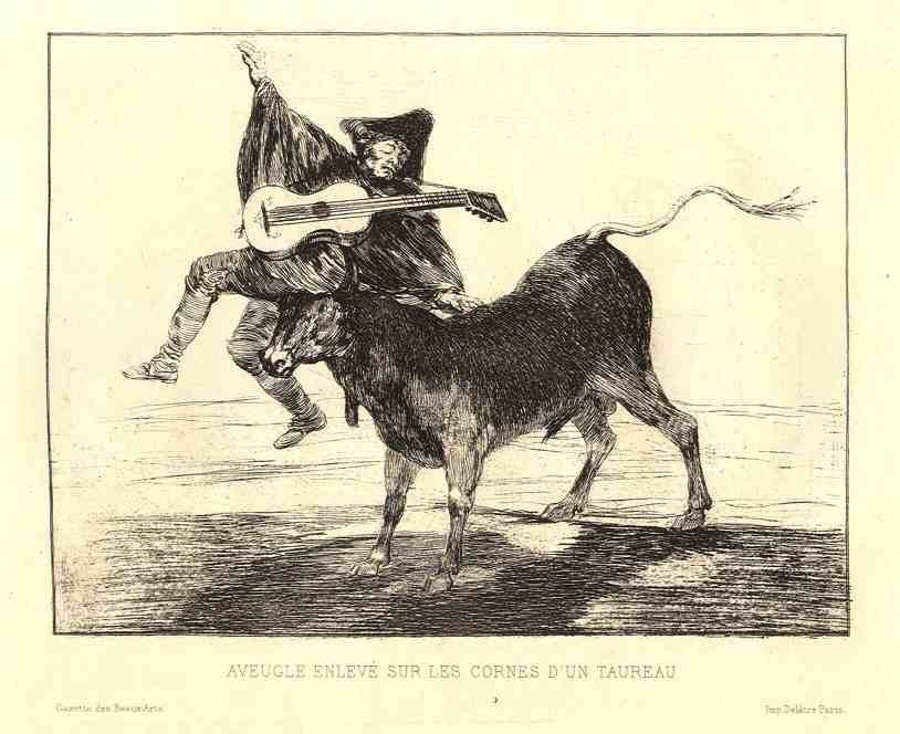 "700007: FRANCISCO GOYA ORIGINAL ETCHING ""AVEUGLE ENLEVÉ"