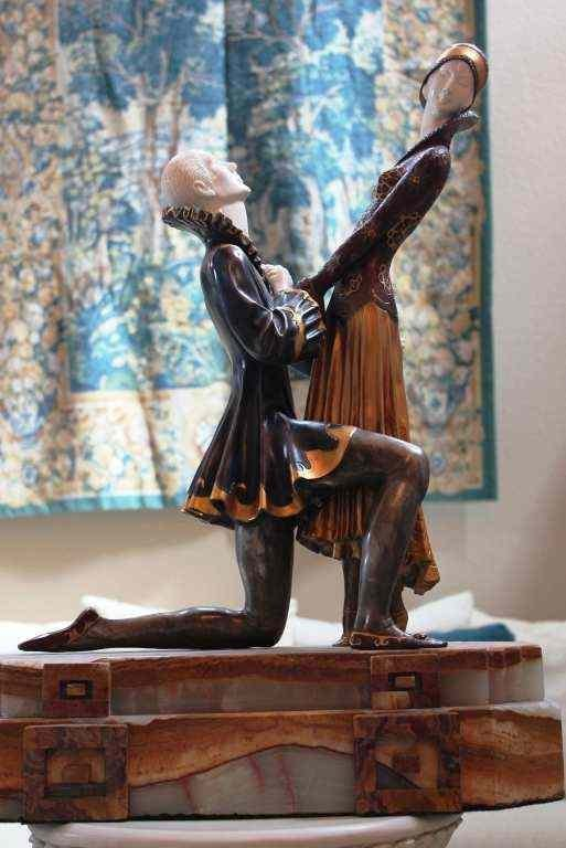 """800856: CHIPARUS - """"EVERLASTING LOVE"""" -BRONZE AND IVORY"""