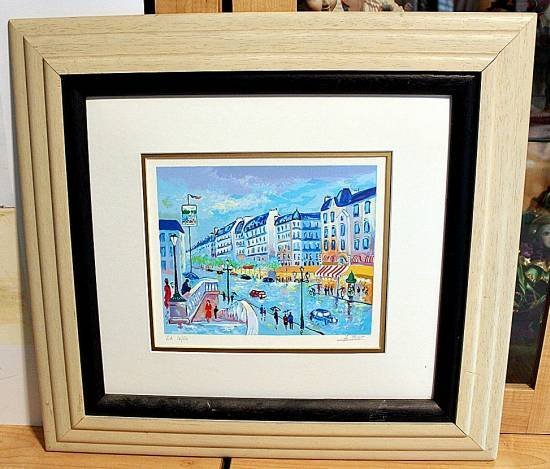 800021: PICOT HAND SIGNED SERIGRAPH