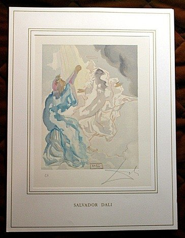 800003: DALI HAND SIGNED ORIG. COLORED WOOD ENGRAVING -