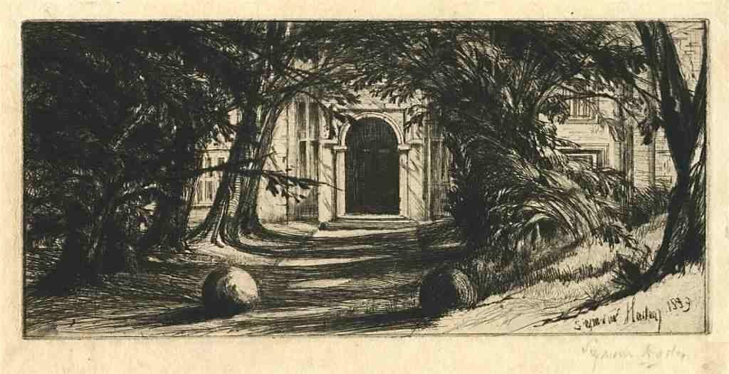 "900005: SEYMOUR HADEN PENCIL-SIGNED ""MYTTON HALL"" ETCHI"