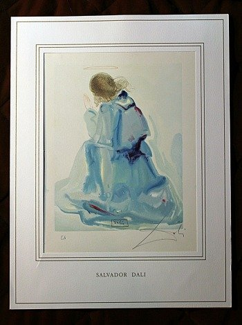 900004: DALI HAND SIGNED ORIG. COLORED WOOD ENGRAVING -