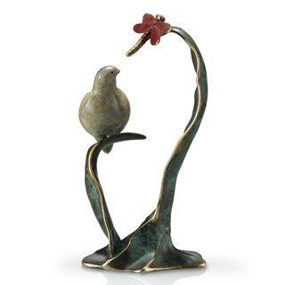 1000006: BIRD & BUTTERFLY BRONZE SCULPTURE