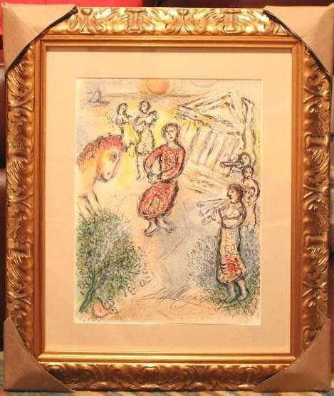 100011: CHAGALL HAND SIGNED LITHOGRAPH