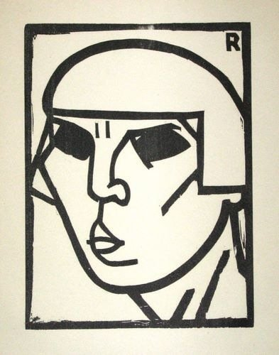 "100025: ANDRE ROUVEYRE ""KOPF"" ORIGINAL WOODCUT"