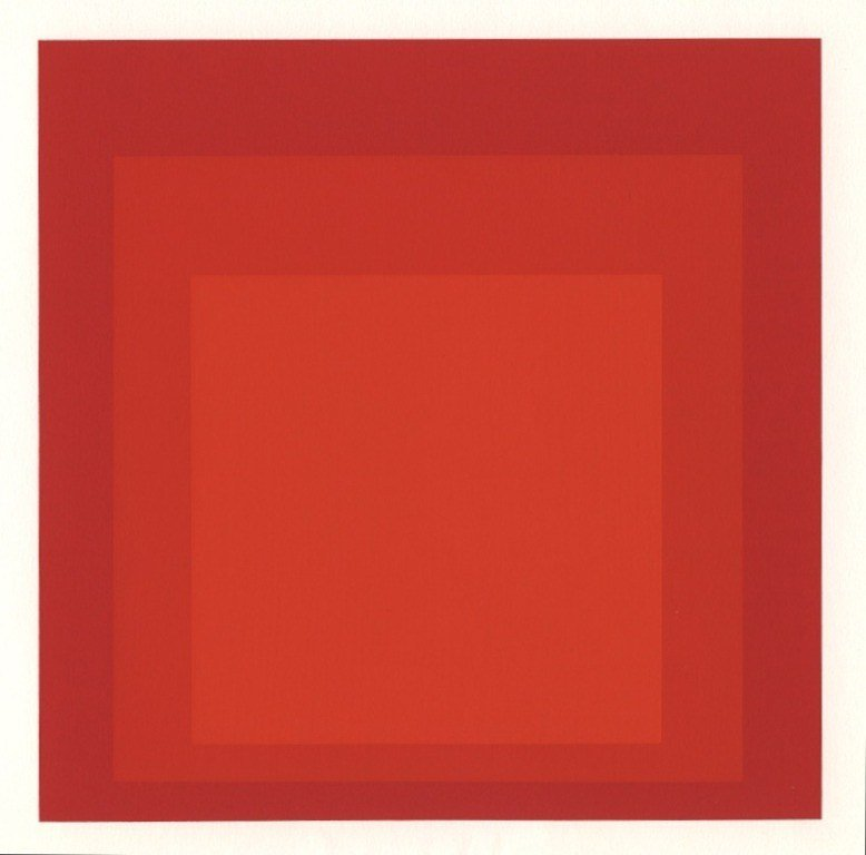 """100033: ALBERS SILKSCREEN """"HOMAGE TO THE SQUARE"""" 1968"""