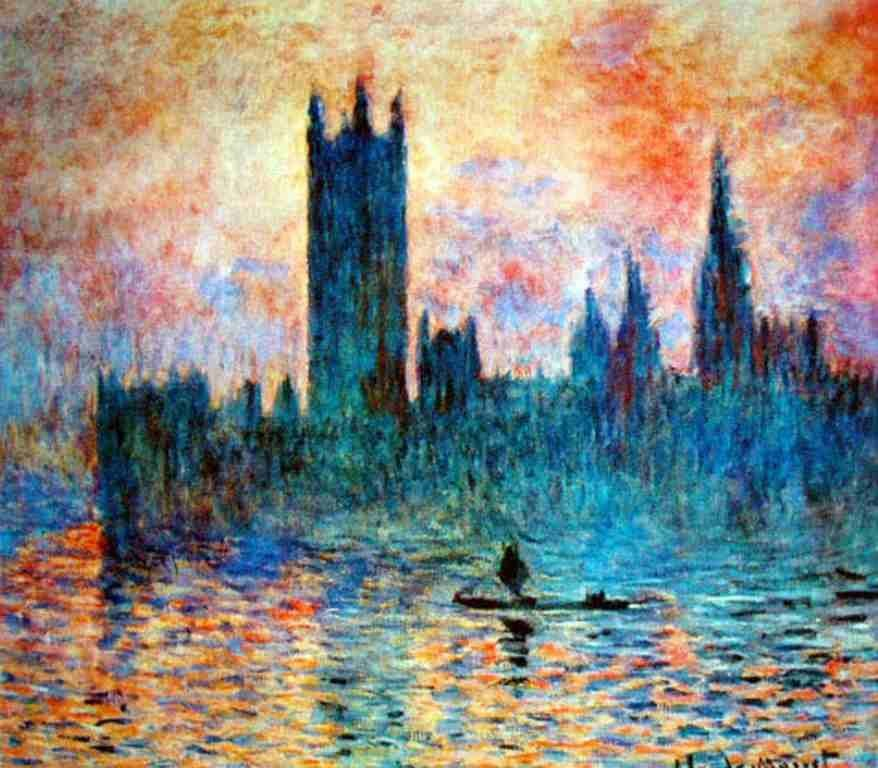 "100205: MONET ""HOUSES OF PARLIAMENT"""