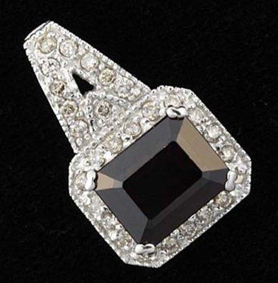 200042: 3 CTW GARNET & DIAMOND PENDANT 10KW