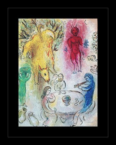 "300029: CHAGALL 1977 ""DAPHNIS AND CHLOE"" LITHOGRAPH"