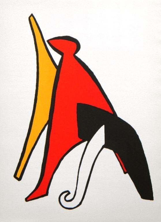 400024: ALEXANDER CALDER ORIGINAL LITHOGRAPH, 1963
