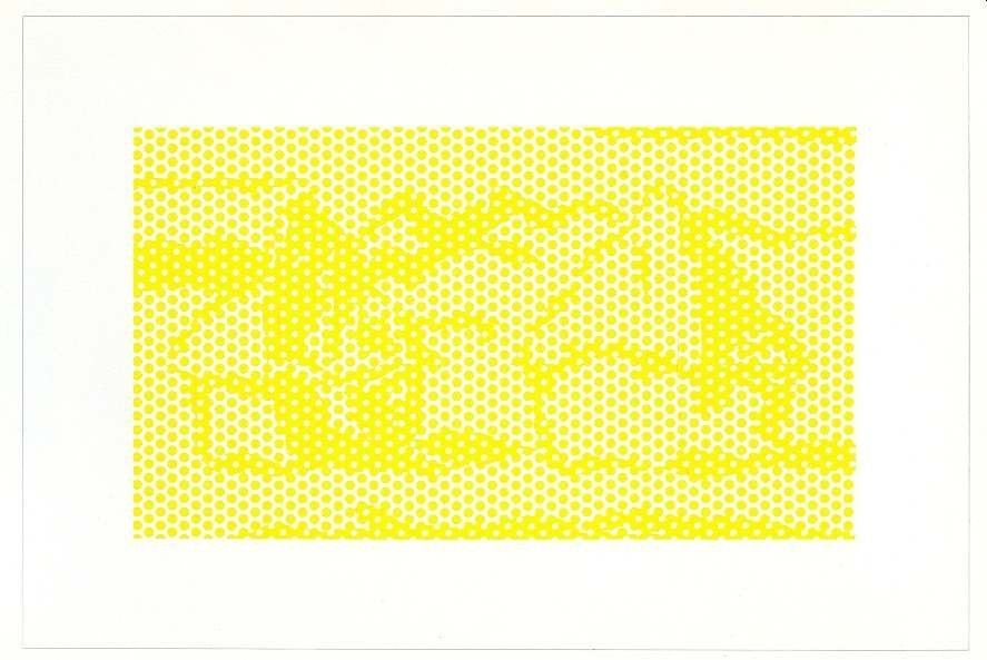 """400034: LICHTENSTEIN """"HAYSTACK #1"""" LITHOGRAPH 1969"""