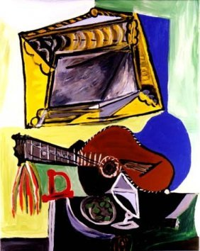"500013: PICASSO ""STILL LIFE WITH GUITAR AND FRAME"""