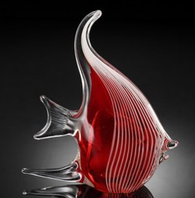 500023: ART GLASS ANGEL FISH