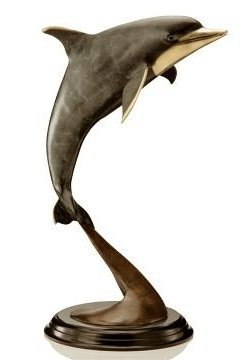 500027: DOLPHIN BRONZE SCULPTURE