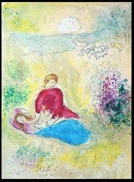 "500029: CHAGALL 1977 ""DAPHNIS AND CHLOE"" LITHOGRAPH"