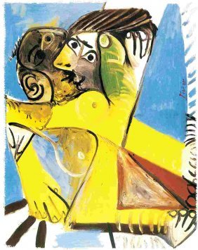 "500033: PICASSO ""YELLOW EMBRACE"""