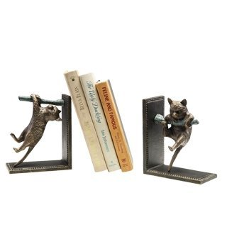 500035: CLIMBING CATS BOOKENDS