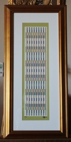"""500199: AGAM HAND SIGNED """"BLUE VERTICAL ORCHESTRATION"""""""