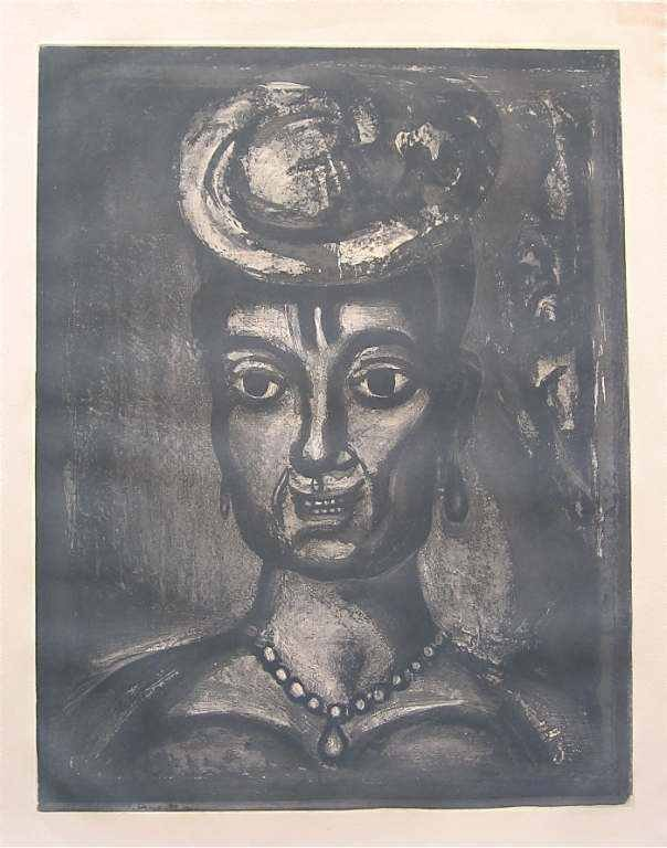 600012: GEORGES ROUAULT ORIGINAL ETCHING FOR MISERERE