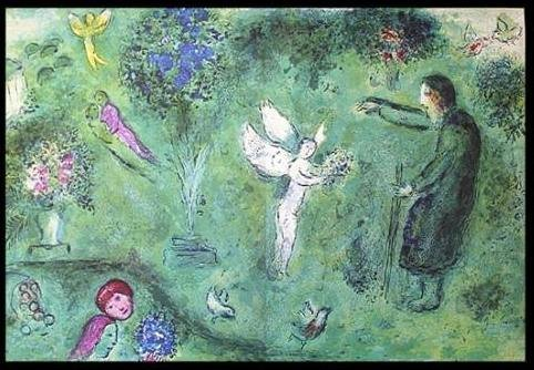 """600028: CHAGALL 1977 """"DAPHNIS AND CHLOE"""" LITHOGRAPH"""