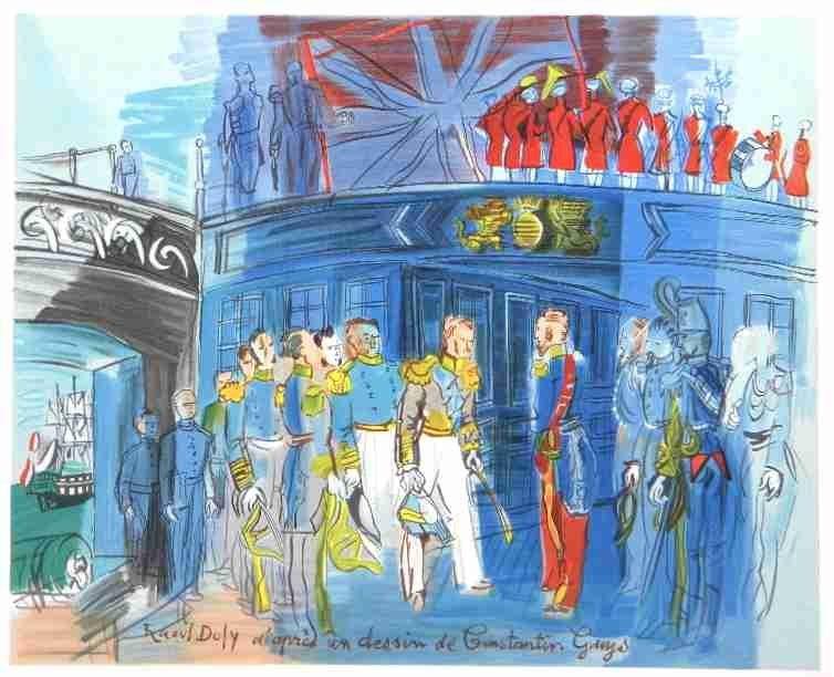 """700025: RAOUL DUFY LITHOGRAPH """"LE PRINCE DE JOINVILLE"""""""
