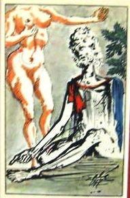 800028: DALI ANTIQUE LITHOGRAPH (1947)