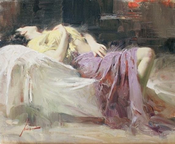 """800036: PINO """"AFTERNOON REPOSE"""" - HAND SIGNED  / EMBELL"""
