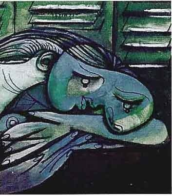 """900001: PICASSO """"LADY WITH HEAD ON ARMS"""""""