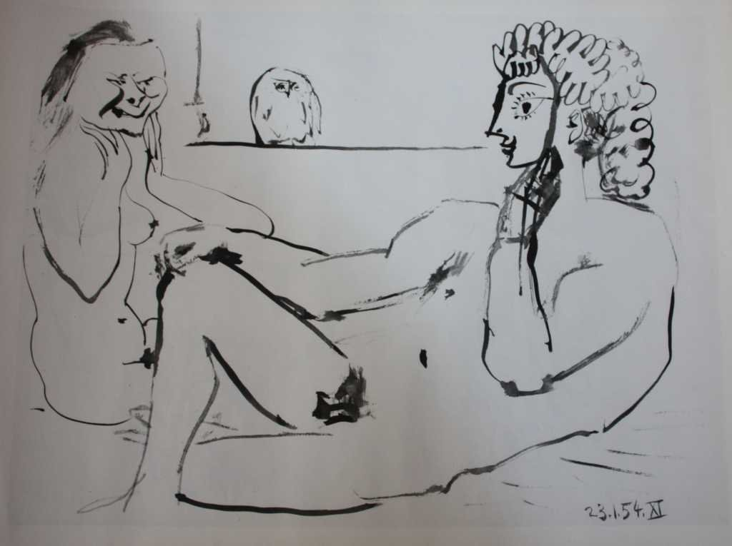 110051: PICASSO - TWO FACES OF LOVE - GRAVEUR - 1954