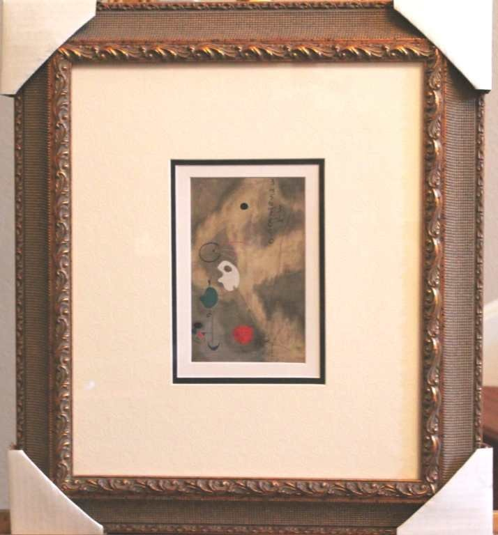 110008: MIRO - HAND SIGNED LITHOGRAPH