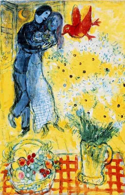 """MARC CHAGALL """"LOVERS & DAISES"""""""