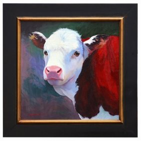 """""""HEREFORD"""" - ORIGINAL OIL ON CANVAS"""