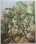 CEZANNE HAND COLORED ETCHING