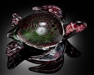 ART GLASS SEA TURTLE - HAND CRAFTED